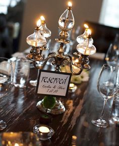Oil lamp centerpieces