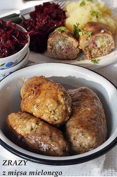 Zrazy faszerowane z mięsa mielonego