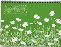 2013 Snow & Graham Grid Calendar - I get this calendar every year. Makes for a prettier display of the months
