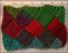 Entrelac Knitting Patterns: Entrelac Scarf Knitting Pattern