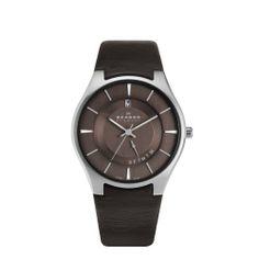 Skagen 989XLSLD Mens All Brown Watch Skagen. $85.00. Leather band. Stainless Steel case. Brown dial