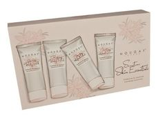Nougat  Sumptuous Skin Essentials Gift Set, Tuberose and Jasmine by Nougat. Save 32 Off!. $34.00. Tuberose & Jasmine combines the unique notes of the Tuberose flower and white Jasmine blossom.  Blends sweet notes of Warm Milk and White Peach with rich notes of Sandalwood Cedarwood Vanilla and Musk. Everything you need to keep skin looking radiant while leaving a lingering fragrance. Containing our Rejuvenating Hand Polish and Reviving Body Polish to buff and hydrate the skin and our famous…