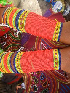 Kuna Indian displaying her beads & molas, San Blas Islands Panama by Susan Kunkel by drsusieq1, via Flickr