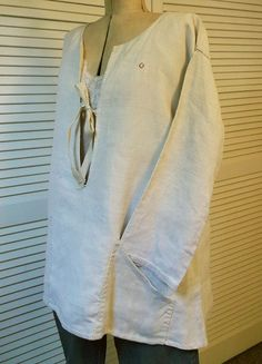 Antique French Linen Shift  Handmade Homespun  by FleaWhoSaysOUI2
