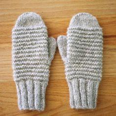 Cozy Purl Ridge Mittens Knitting Pattern