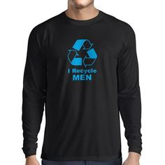 N4018L I recycle men funny gift Long Sleeve t-shirt ** Click image to review more details.