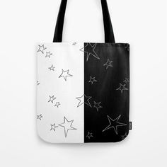 Stars - Black and White Tote Bag by laec | Society6