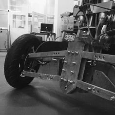 Hand-built prototype for a shock absorber. #ideiam #productdesign #tryke #vehicle #mobility #transportation #prototype