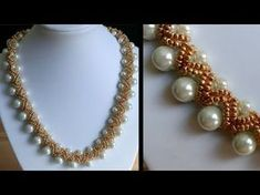 [Anleitung/Tutorial] Perlenkette mit Doppelstreifen-Verzierung - DIY [Perlen] - YouTube