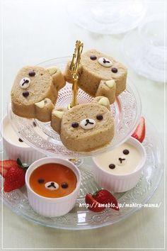(161) Rilakkuma cake pudding | Fuel for the Body and Soul | Pinterest