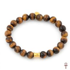 Classic Tiger's Eye Exclusive Beaded Bracelet #men #bracelet #tiger'seye #brown