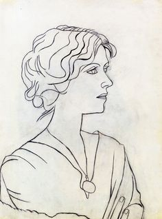 Pablo Picasso 'Retrato de Olga', 1920, pencil on paper