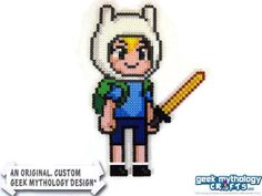 Adventure Time Finn Custom Perler Bead by Geek Mythology Crafts