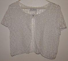 Karin Stevens Summer Knit Top Size M #KarinStevens #KnitTop