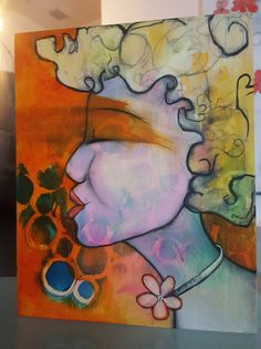 Disco Inferno, Oil on Birch, x Birch, Original Paintings, My Arts, Oil, Butter