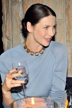 "Caitriona Balfe | Love that nail polish! Caitriona Balfe at ""VOGUE to celebrate TOD'S Creative Director Alessandra Facchinetti"""