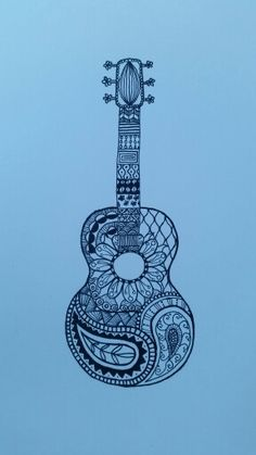 Zentangle guitar.                                                                                                                                                                                 More