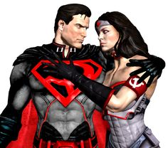 Injustice God Superman and Wonder Woman red son by corporacion08 on deviantART