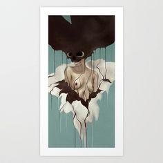 Death By Chocolate Art Print by Ruben Ireland - $18.00