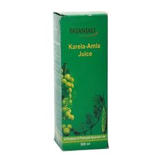 Patanjali Juice - Karela Amla 5-10 ml of Juice with water & consume 2-3 times after meal or as directed by Physician.