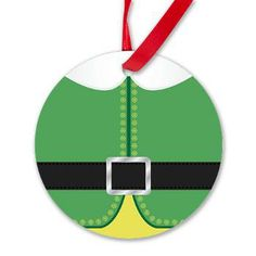 Buddy the Elf Costume Round Ornament $8.50