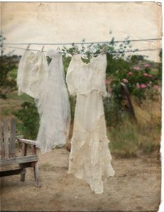 Fresh laundry framed would be cute..Just the scent of clothes being hug out alone...
