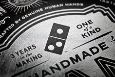 Domino's Pizza handmade pan pizza box revamp