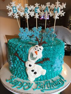 Frozen/Olaf cake