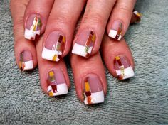 Autumn Squares 2 by aliciarock - Nail Art Gallery nailartgallery.nailsmag.com by Nails Magazine www.nailsmag.com #nailart