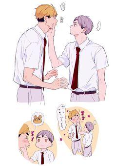 Haikyuu Funny, Haikyuu Yaoi, Haikyuu Ships, Kageyama, Oikawa, Manga Art, Manga Anime, Miya Atsumu, Haikyuu Wallpaper