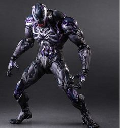 Purchase the Play Arts Kai Venom figure for your collection today! This Marvel Venom action figure features the symbiote's sprawling tongue and hulked physique. Marvel Dc, Marvel Comics, Marvel Venom, Marvel Heroes, Amazing Spiderman, Spiderman Venom, Batman, Spiderman Play, Age Of Ultron