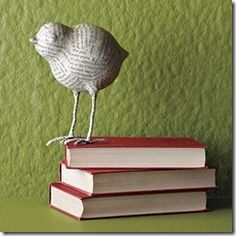 Papier-mache bird