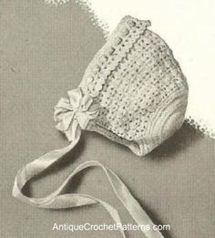 Vintage Crochet Baby Bonnet - Crochet Baby Bonnet Pattern......going to have to find someone to make this for me :)