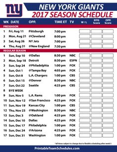 picture about Ny Giants Printable Schedule identify 8 Excellent Fresh York Giants Plan shots within 2014 Refreshing york
