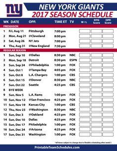 3ffcec171f5 New York Giants Football Schedule 2017 Dallas Cowboys Football Schedule