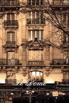 Le Dome, on Blvd Montparnasse, Paris (by Rita Crane Photography ~ returning slowly) Le Dome Paris, Paris 3, Paris Street, Most Beautiful Cities, Beautiful Buildings, Paris Travel, France Travel, Paris France, Paris Balcony