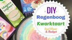 DIY   Regenboog Kwarktaart, makkelijk en snel   Mama's Liefste 4th Birthday, Kids Meals, Healthy Snacks, Cake Decorating, Diys, Deserts, Party, Food, Low Carb