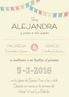 invitacion para #bautizo niña. #invitacionbautizo #bautizo2016