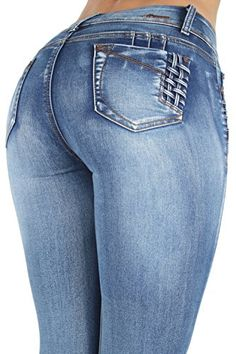 Colombian Design Butt Lift Levanta Cola Mid Waist Sexy Skinny Jeans in Blue Size 3 -- Visit the image link more details. (This is an affiliate link) Stylish Jeans, Casual Jeans, Jeans Style, Denim Jeans Men, Jeans Pants, Jeans And Boots, Sweet Jeans, Girls Jeans, Image Link