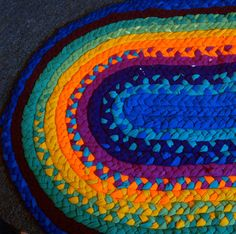 Kaleidoscope Eyes Rag Rug  Bath Mat with by EarlyMorningProjects, $54.00