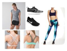 """""""Workout!"""" by alexandra-papazian12 ❤ liked on Polyvore featuring lululemon, NIKE, Threads for Thought and nike"""