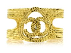 Pre-owned Chanel Vintage CC Braided Cuff Chanel Bracelet, Chanel Jewelry, Chanel Shoes, Coco Chanel, Braid Cuffs, Cuff Jewelry, Jewellery, Rare Gems, Trends