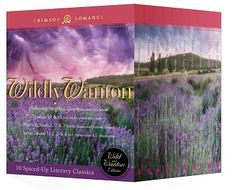 Wildy Wanton bundle, featuring Wuthering Heights, Dracula, Lorna Doone, and North and South.