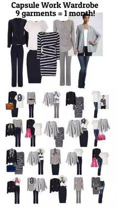 Capsule work wardrobe - 9 items 28 days