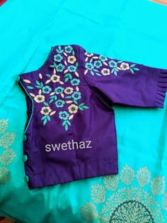 Blouse Designs High Neck, Best Blouse Designs, Simple Blouse Designs, Stylish Blouse Design, Bridal Blouse Designs, Saree Blouse Designs, Embroidery Blouses, Bird Embroidery, Machine Embroidery