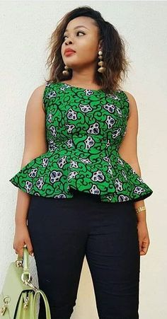 Collection of the most beautiful and stylish ankara peplum tops of 2018 every lady must have. See these latest stylish ankara peplum tops that'll make you stun African Fashion Ankara, Latest African Fashion Dresses, Ghanaian Fashion, African Dresses For Women, African Print Dresses, African Print Fashion, African Attire, African Prints, African Women
