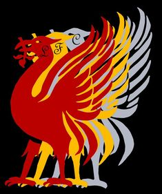 A hand drawn image of the Liver Bird using red ink. I then digitally added two copies in different colours. Liverpool Images, Liverpool Logo, Liverpool Wallpapers, Liverpool City, Liverpool England, Liverpool Football Club, Best Football Team, Bird Prints, Bird Art