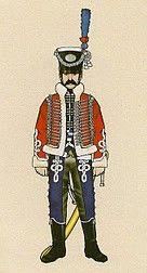 Carabineros Reales. Húsares 1800-06 Guardia de Honor del Almirante