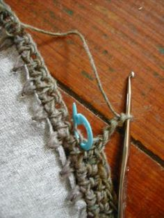 T-shirt to cardigan using crochet