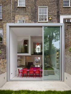 David Mikhail's split-level conversion transforming a five storey house in Camden, London. (photo by Tim Crocker)